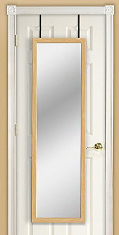 Image of Mirrotek 3VU1448BWFL Triple View Professional Over The Door Dressing Mirror with 4 Mirrors, Toile