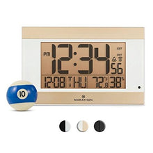 MARATHON CL030052WH Atomic Digital Wall Clock With Auto-Night Light, Temperature & Humidity - Batteries Included - zingydecor