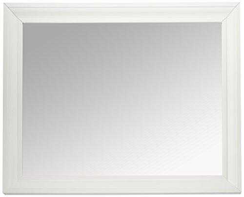 MCS 21.5x27.5 Inch Wall Mirror, 26.5x32.5 Inch Overall Size, White (20453)