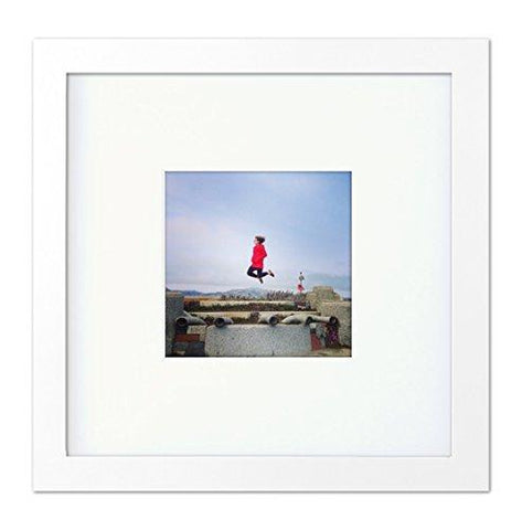 Tiny Mighty Frames Wood Square Instagram Photo Frame 4x4 Mat