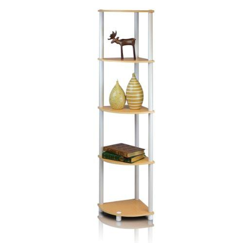 Furinno 99811EX/BK Turn-N-Tube 5 Tier Corner Shelf