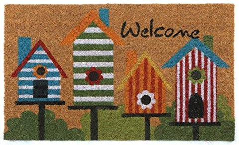 """Welcome"" Doormat by Castle Mats, Size 18 x 30 inches, Non-Slip, Durable, Made Using Odor-Free Natural Fibers"