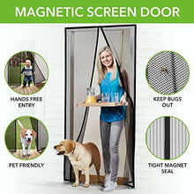 "Load image into Gallery viewer, Homitt Magnetic Screen Door with Heavy Duty Mesh Curtain and Full Frame Velcro Fits Door Size up to 34""-82"" Max - zingydecor"