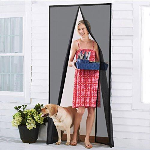 Homitt Magnetic Screen Door with Heavy Duty Mesh Curtain and Full Frame Velcro Fits Door Size up to 34