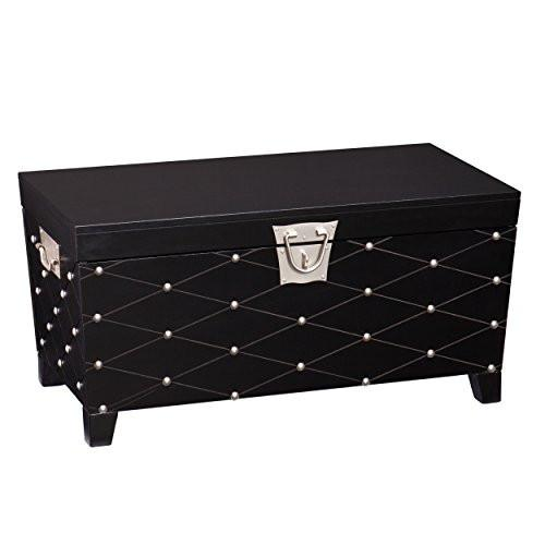 Nailhead Cocktail Table Trunk - Espresso - zingydecor