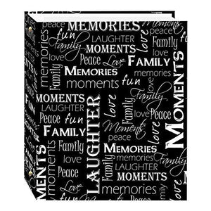 Magnetic Self-Stick 3-Ring Photo Album 100 Pages (50 Sheets) - zingydecor