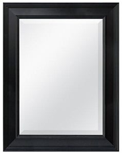 MCS 20450 15.5 by 21.5-Inch Beveled Mirror with 21.5 by 27.5-Inch Frame, White - zingydecor