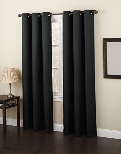 No. 918 Montego Casual Textured Grommet Curtain Panel, 48