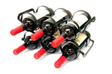 Mango Steam 6 Bottle Wine Rack - Black - zingydecor