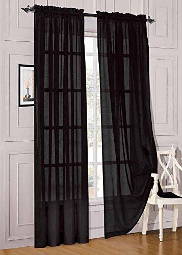 WPM 2 Piece Beautiful Sheer Window Elegance Curtains/drape/panels/treatment 60