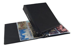 "Postcard Album, Trim ""Classic"" Style (Black) by Hobbymaster holds your post card collection, expandable - zingydecor"
