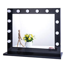 Load image into Gallery viewer, Chende White Hollywood Lighted Makeup Vanity Mirror Light, Makeup Dressing Table Vanity Set Mirrors with Dimmer, Tabletop or Wall Mounted Vanity, LED Bulbs Included - zingydecor