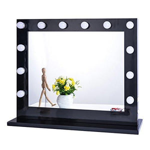 Chende White Hollywood Lighted Makeup Vanity Mirror Light, Makeup Dressing Table Vanity Set Mirrors with Dimmer, Tabletop or Wall Mounted Vanity, LED Bulbs Included - zingydecor