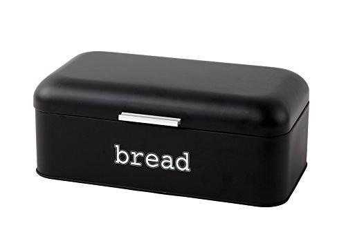 Bread Box For Kitchen - Bread Bin Storage Container For Loaves, Pastries, and More - Retro / Vintage Inspired Design - Red - 16.75 x 9 x 6.5 Inches