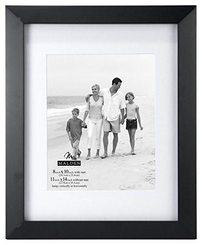 Malden International Designs Berkeley Matted Black Wood Collage Picture Frame, 6 Option, 6-4x6