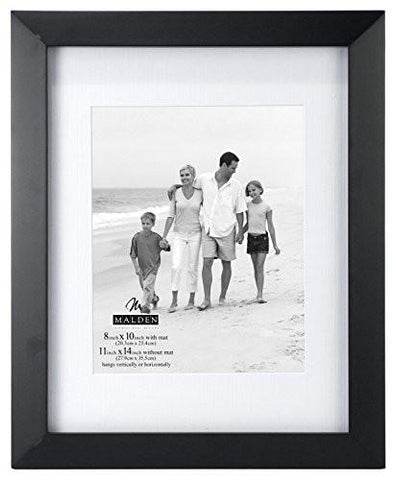 Image of Malden International Designs Berkeley Matted Black Wood Collage Picture Frame, 6 Option, 6-4x6