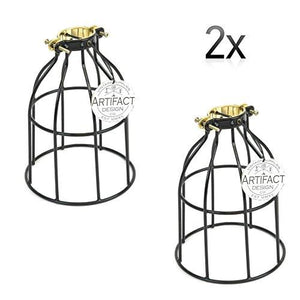 Rustic State Industrial Vintage Style Curved Top Light Cage for Pendant Light Lamps (Oil Robbed) - zingydecor