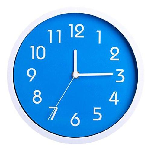Binwo Modern Colorful Stylish Elegant Silent Non-ticking Home Kitchen/Living Room Wall Clock 10 Inches