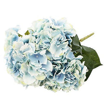 Load image into Gallery viewer, Artificial Silk Fake 5 Heads Hydrangea Beautiful Flower Bunch Bouquet Home Hotel Wedding Party Garden Floral Decor - zingydecor