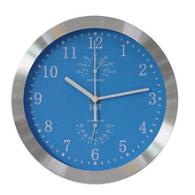 HITO Silent Non-ticking Wall Clock- Metal Frame Glass Cover, 10 inches - zingydecor