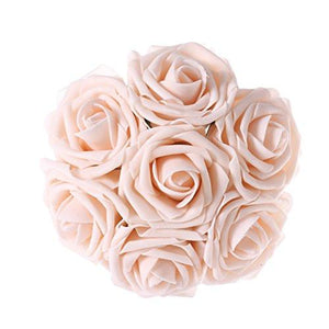 Artificial Flowers 50pcs Ivory Real Looking Artificial Roses for Wedding Bouquets Centerpieces Party Baby Shower Decorations DIY - zingydecor
