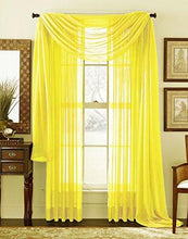 "Load image into Gallery viewer, HLC.ME 54"" inch x 84"" inch Window Curtain Sheer Panels, Set of 2 - zingydecor"