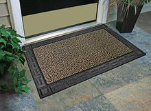 "Load image into Gallery viewer, GrassWorx Omega Doormat, 24"" by 36"", Earth Taupe - zingydecor"