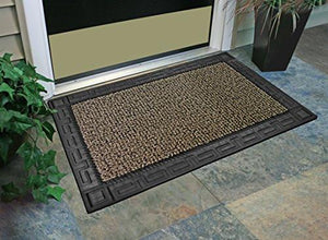 "GrassWorx Omega Doormat, 24"" by 36"", Earth Taupe - zingydecor"