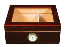 Load image into Gallery viewer, Quality Importers Desktop Humidor, Capri-Glasstop - zingydecor