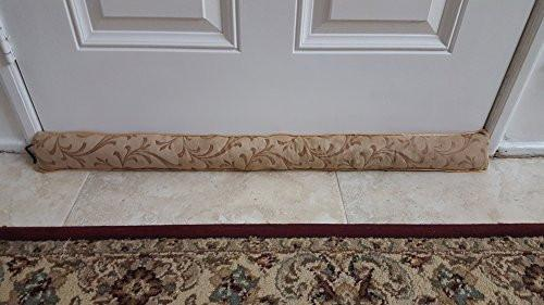 Monikas Marketplace Handmade 37-Inch Under-Door Draft Stopper (1.4 lbs.) with Hanging Cord and Storage Bag - zingydecor
