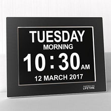 Load image into Gallery viewer, [Newest Version] Day Clock - Extra Large Impaired Vision Digital Clock with Battery Backup & 5 Alarm Options - zingydecor