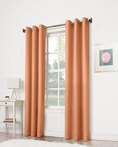 "Image of No. 918 Montego Casual Textured Grommet Curtain Panel, 48"" x 84"""