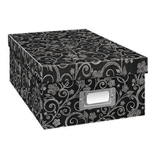 Load image into Gallery viewer, Pioneer Photo Albums B-1BW Photo Storage Box, Damask Design - zingydecor
