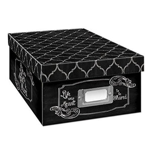 Pioneer Photo Albums B-1BW Photo Storage Box, Damask Design - zingydecor