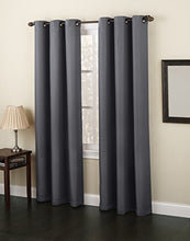 "Load image into Gallery viewer, No. 918 Montego Casual Textured Grommet Curtain Panel, 48"" x 84"" - zingydecor"