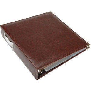 We R Memory Keepers Classic Leather 3-Ring Album - 8.5 x 11 inch, Black - zingydecor