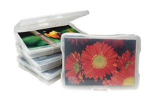 IRIS 4 x 6 Inch Photo Storage and Embellishment Craft Case, 10 Pack, Clear