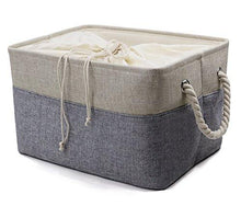 Load image into Gallery viewer, Organizing Baskets for Clothing Storage - Storage Baskets Made From Eco-friendly Cotton. Works As Fabric Drawer, Baby Storage, Toy Storage. Nursery Baskets Fit Most Shelves - zingydecor