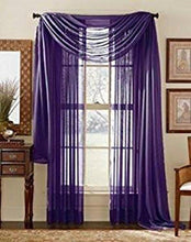 "WPM 2 Piece Beautiful Sheer Window Elegance Curtains/drape/panels/treatment 60""w X 84""l (White)"