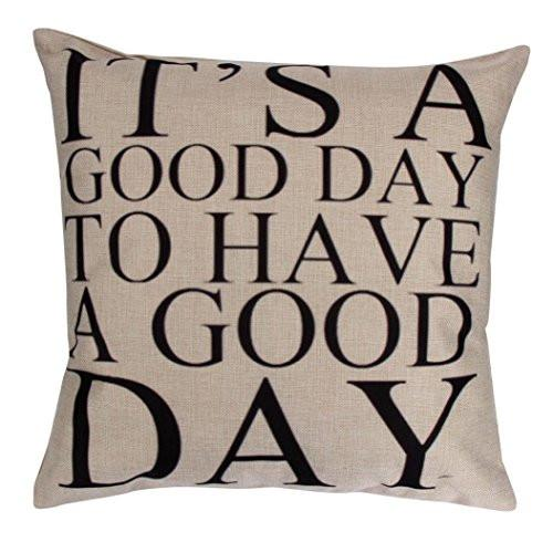 Iuhan Fashion Pillow Case Sofa Waist Throw Cushion Cover Home Decor (F)