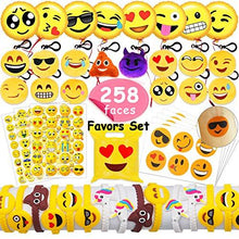 "MelonBoat 16 Pack Emoji Mini Plush Pillows, Keychain Decorations, Kids Party Supplies Favors, 2"" Set of 16 - zingydecor"