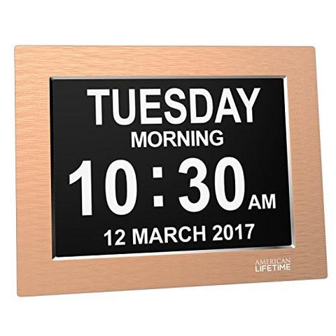 Image of [Newest Version] Day Clock - Extra Large Impaired Vision Digital Clock with Battery Backup & 5 Alarm Options