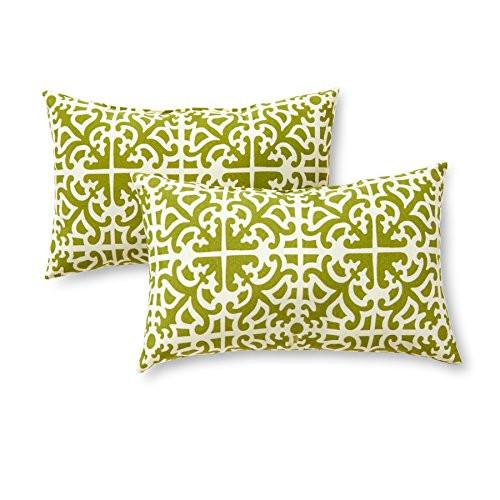 Greendale Home Fashions Rectangle Indoor/Outdoor Accent Pillows, Set of 2 - zingydecor