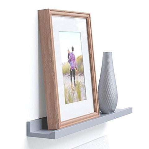 Image of Denver Modern Floating Wall Ledge Shelf for Pictures and Frames 22 Inches Long , White