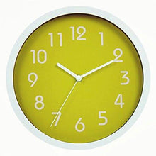 Load image into Gallery viewer, Binwo Modern Colorful Stylish Elegant Silent Non-ticking Home Kitchen/Living Room Wall Clock 10 Inches - zingydecor