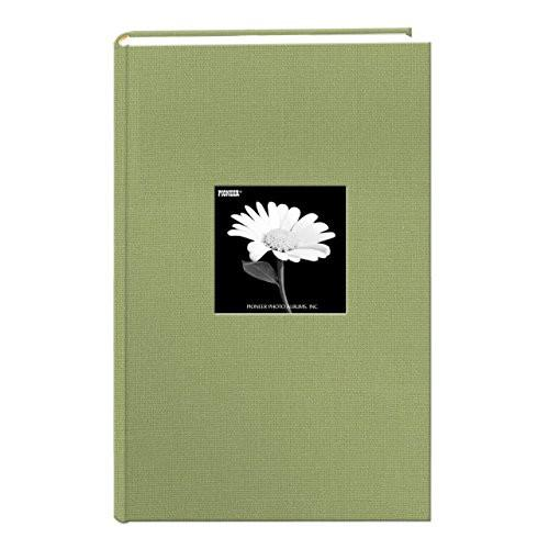 Fabric Frame Cover Photo Album 300 Pockets Hold 4x6 Photos, Deep Black