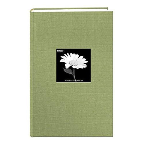 Image of Fabric Frame Cover Photo Album 300 Pockets Hold 4x6 Photos, Deep Black