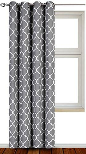 Printed Blackout Room Darkening Grommet Curtain - Window Panel Drapes 1 Panel, 52 inches wide by 84 inches long - Decorative Curtains by Utopia Bedding - zingydecor