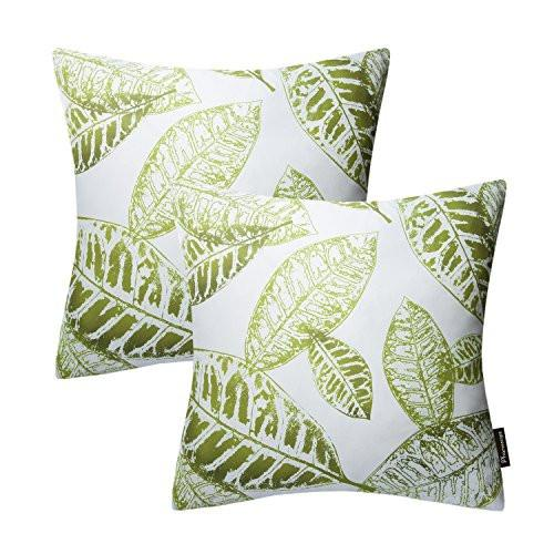 Phantoscope New Living Blue & Green Decorative Throw Pillow Case Set of 4 - zingydecor