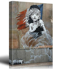 Load image into Gallery viewer, Canvas Print Wall Art - There is always hope - Girl and red heart balloon - Street Art - Guerilla - Banksy Street Artwork on Canvas Stretched Gallery Wrap. Ready to Hang - 24 x 36 inches - zingydecor